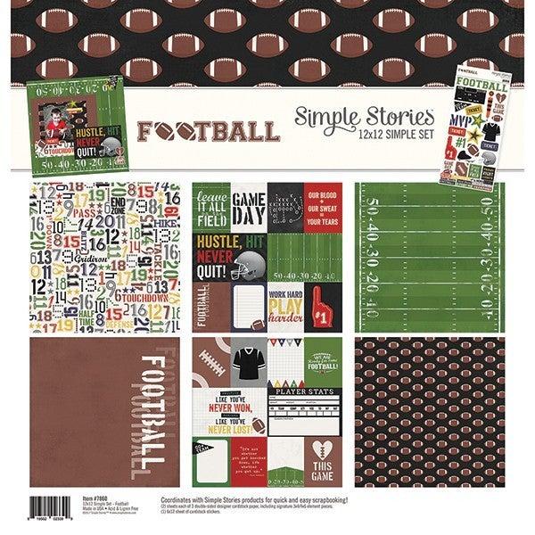 Simple Stories 12 x 12 Football kit