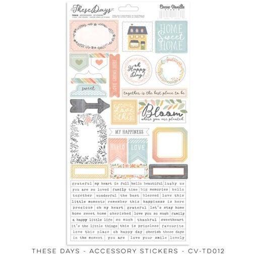 PRE ORDER Cocoa Vanilla Studio THESE DAYS – Accessory Stickers