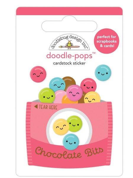 Doodlebug Design Cute & Crafty  Doodle-Pops - Chocolate Bits