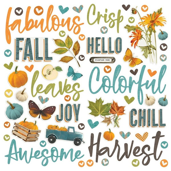 Simple Stories - Simple Vintage Country Harvest Collection - Foam Stickers
