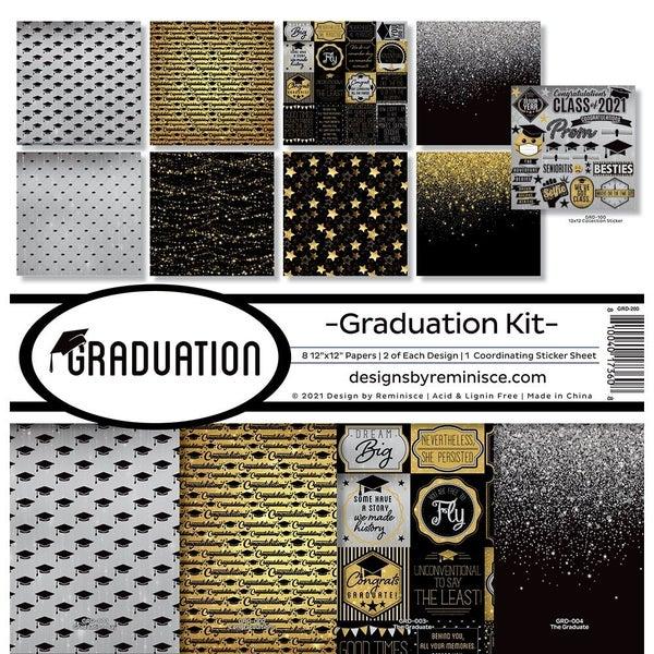 Reminisce Graduation 12 x 12 Collection Kit