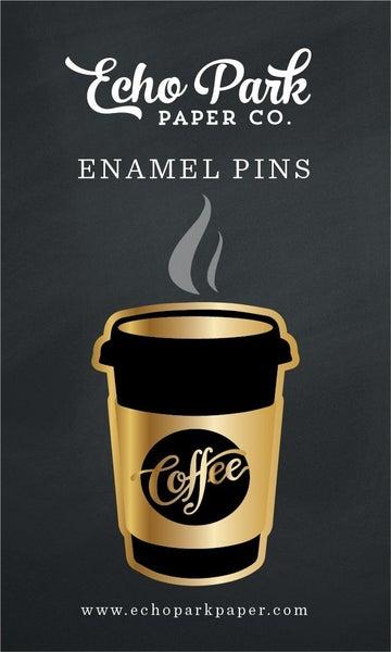 Echo Park COFFEE CUP ENAMEL PIN