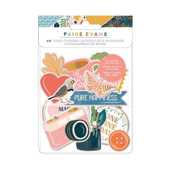 Paige Evans Bungalow Lane Collection Epoxy Stickers with Copper Foil Accents