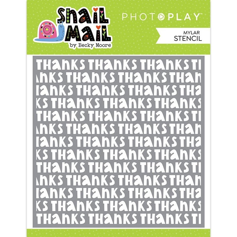 Photo Play  Snail Mail THANK YOU Stencil 6 x 6