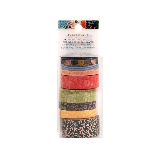Paige Evans Bungalow Lane Collection Washi Tape with Copper Foil Accents