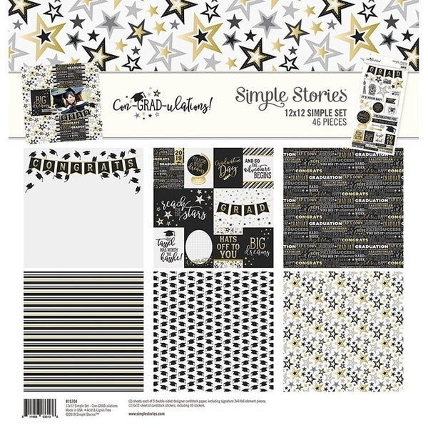 Simple Stories - Con-GRAD-ulations Collection - 12 x 12 Collection Kit