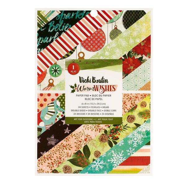 Vicki Boutin - Warm Wishes Christmas - 6 x 8 Paper Pad