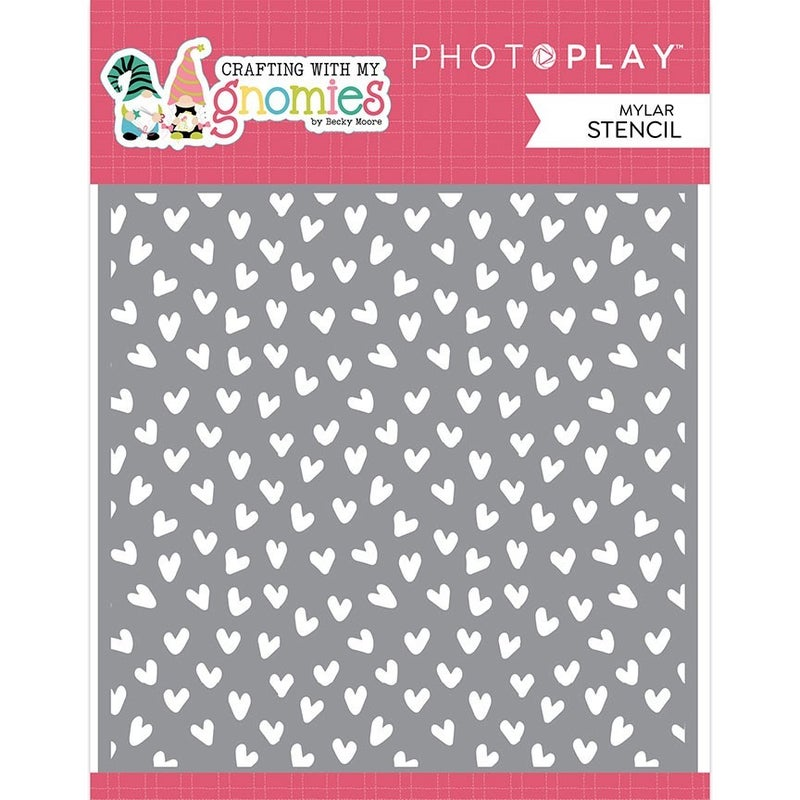 Photo Play Paper - Crafting With My Gnomies 6 x 6 Stencil - Hearts