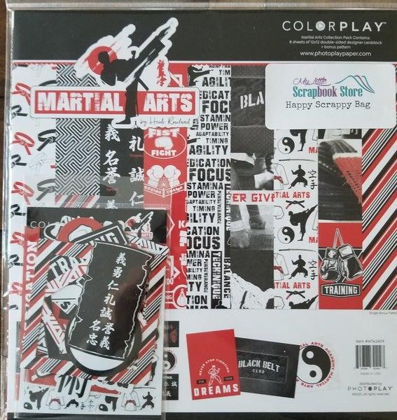 PhotoPlay Martial Arts 2 pc Happy Scrappy Bag