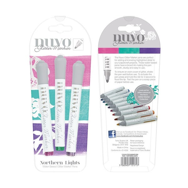 Nuvo Glitter Marker Northern Lights 3 Marker Set