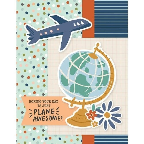 Simple Stories Safe Travels Card Kit Wish You Were Here with Envelopes