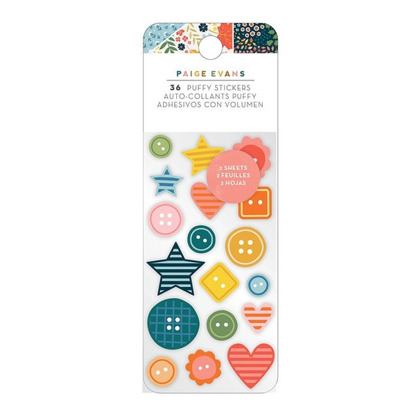 Paige Evans Bungalow Lane Embossed Puffy Stickers
