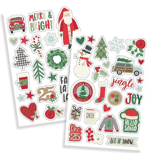 Simple Stories Merry & Bright Puffy Stickers