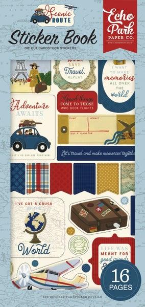 Echo Park - Scenic Route Collection - Cardstock Sticker Book