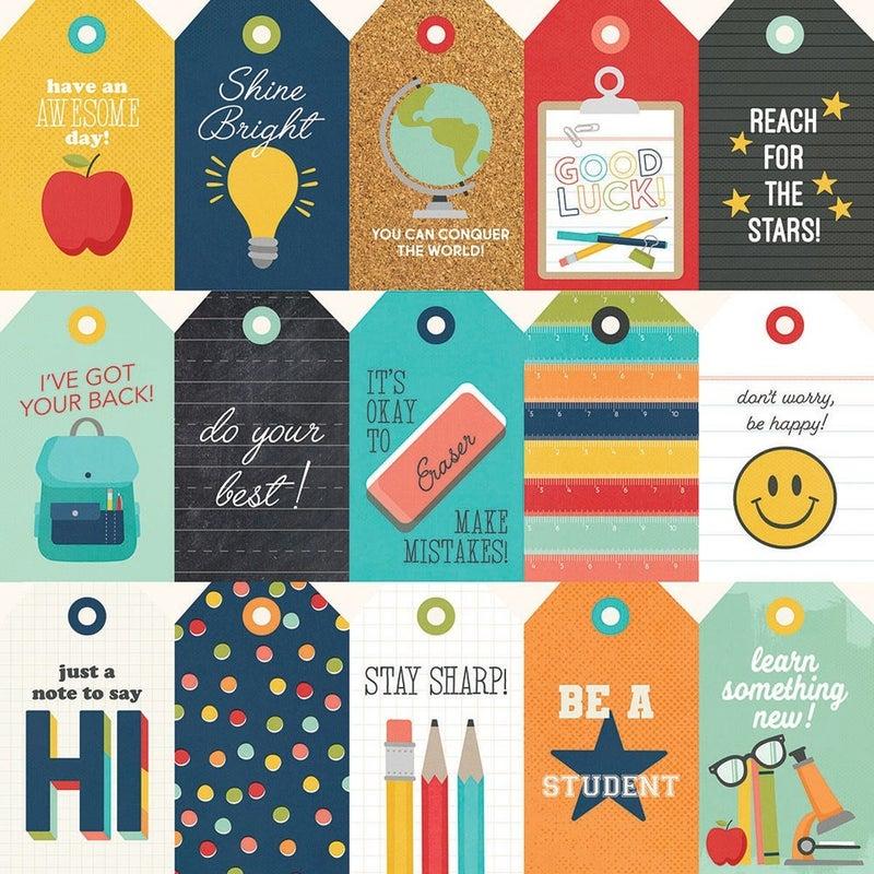 Simple Stories School Life 7 pc Happy Scrappy Bag