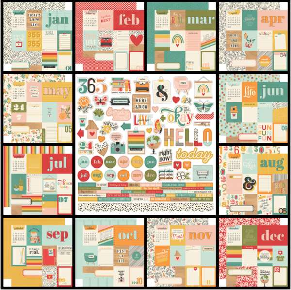 Simple Stories Hello Today 13 Pc Kit