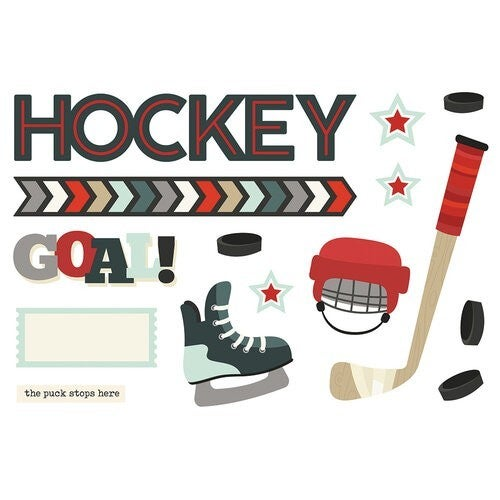 Simple Stories - Simple Pages Collection - Page Pieces - Hockey