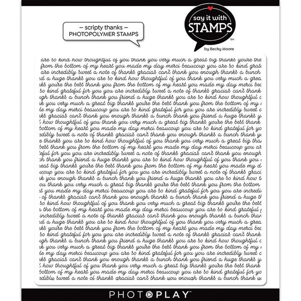 Photoplay Say It With Stamps - Scripty Thanks