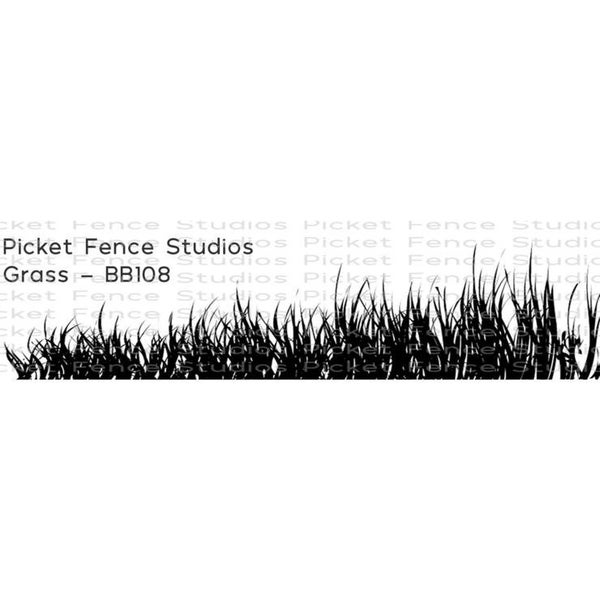 Picket Fence Studios Grass Stamp