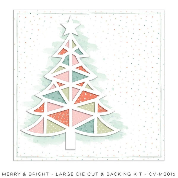 PRE ORDER Cocoa Vanilla Studio MERRY & BRIGHT – Large Die Cut & Backing Kit