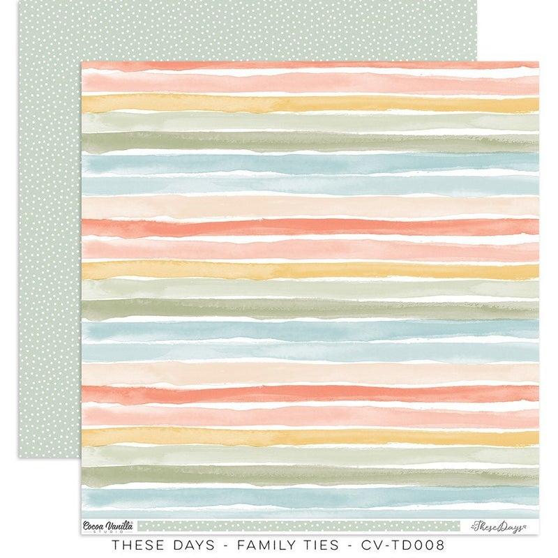 PRE ORDER Cocoa Vanilla Studio THESE DAYS – Family Ties  12 x 12 Paper