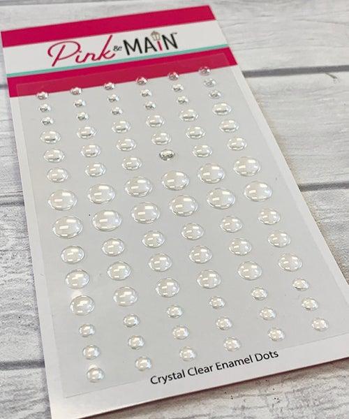Pink & Main CRYSTAL CLEAR  Glitter Enamel Dots
