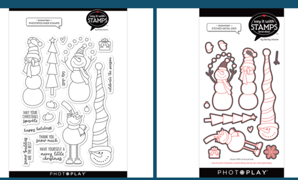 Photo Play Christmas Snowmen Stamp and Die Set