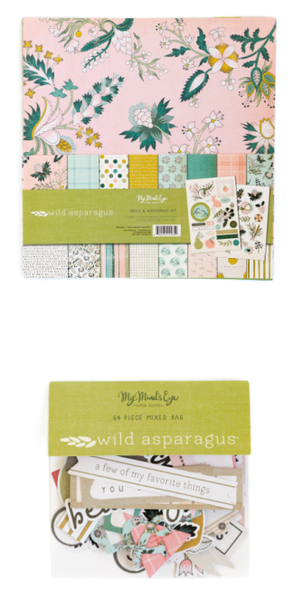 My Mind's Eye Wild Asparagus 2 pc Happy Scrappy Bag