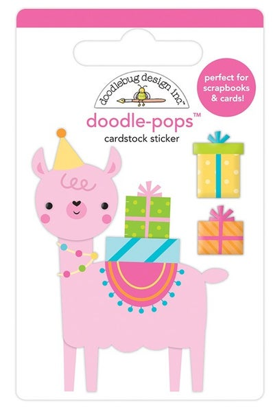 Doodlebug Design  PARTY LLAMA Hey Cupcake Collection  Doodle-Pops