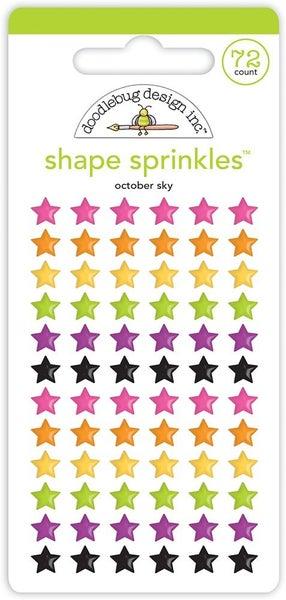 Doodlebug Design  Happy Haunting  Sprinkles Enamel Shapes October Sky STARS