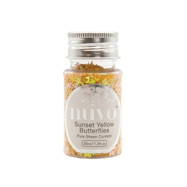 Nuvo SUNSET YELLOW BUTTERFLIES Pure Sheen Confetti