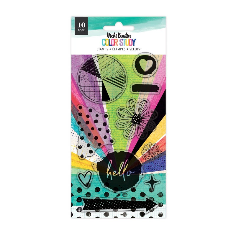 Vicki Boutin - Color Study HELLO Clear Acrylic Stamps