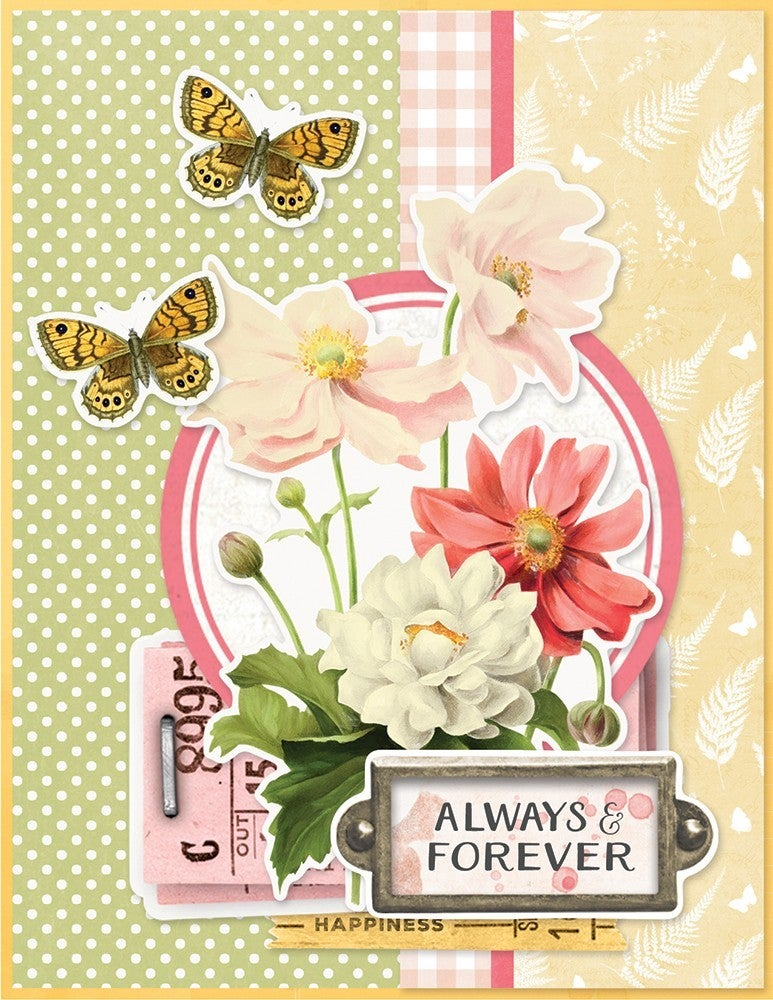 Simple Stories Simple Vintage Cottage Fields  Card Kit - Hello Lovely WITH envelopes