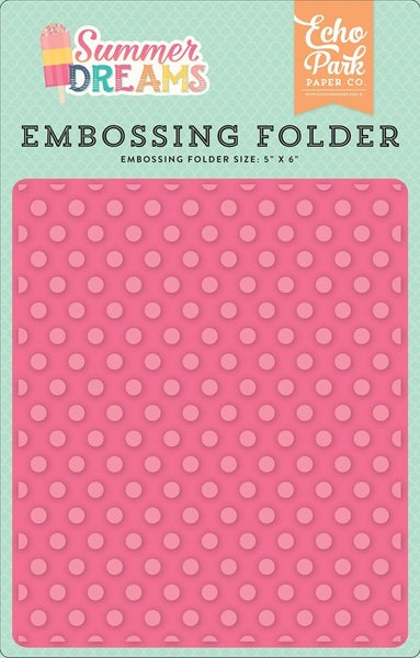 Echo Park Sunny Days Sunny Dot Embossing Folder