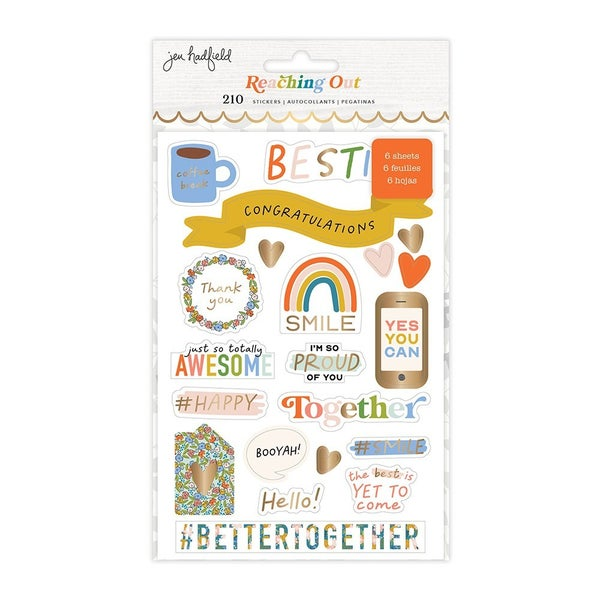 Jen Hadfield Reaching Out Sticker Book - Gold Foil Accents