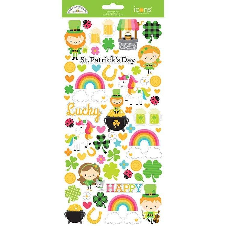 Doodlebug Design St Patrick's Day 6 pc Happy Scrappy Bag