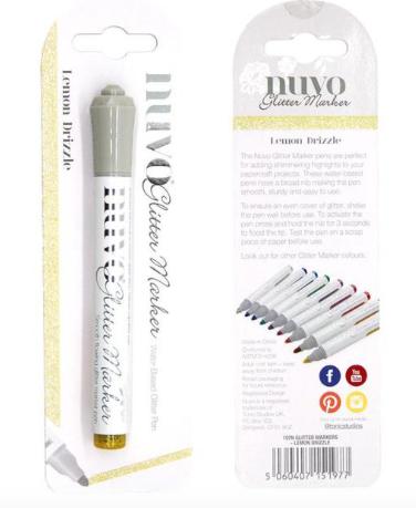 Nuvo - Glitter Marker - Lemon Drizzle - 197N