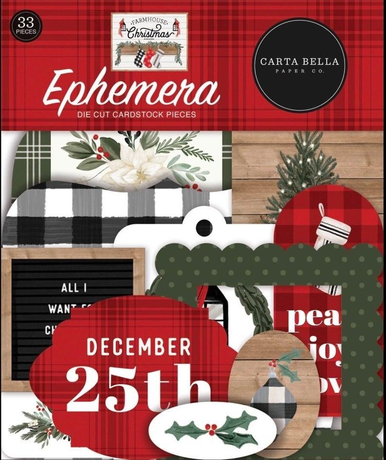 Carta Bella Farmhouse Christmas Happy Scrappy Bag