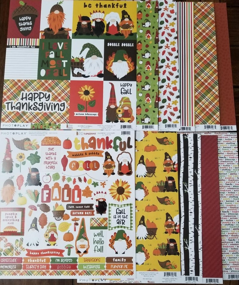 PhotoPlay Gnome for the Holidays Thanksgiving 11 pc set