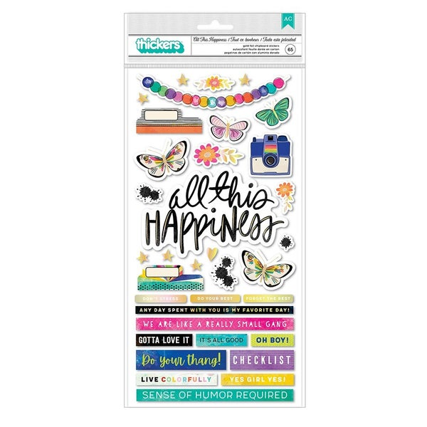 Vicki Boutin  Color Study  All This Happiness Chipboard THICKERS Gold Holographic Foil Accent
