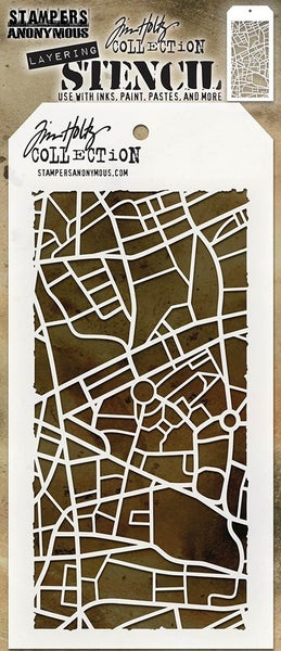 Stampers Anonymous Tim Holtz Metropolis Layering Stencil