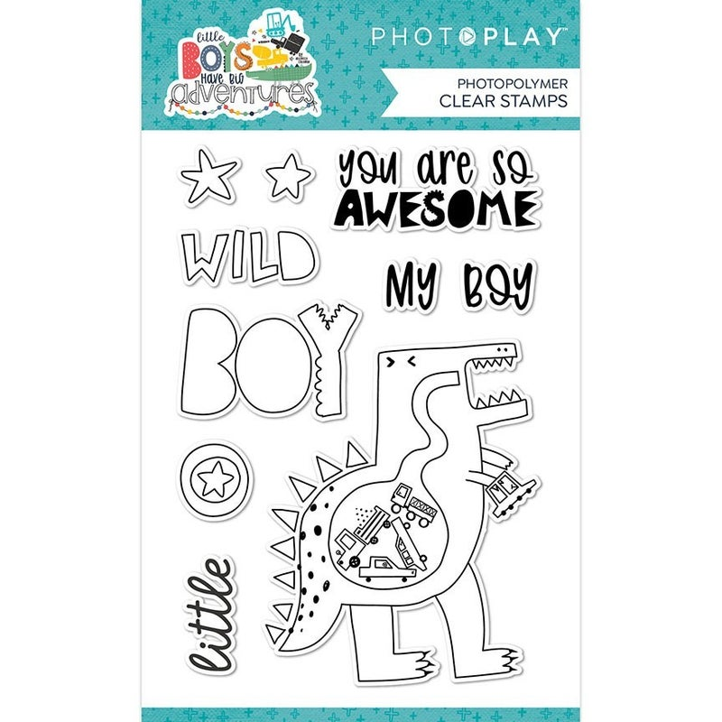 Photoplay Little Boys Have Big Adventures Stamp and Die Set