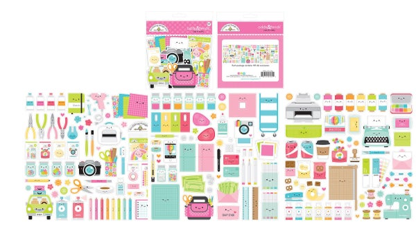 Doodlebug Design  Cute & Crafty - Odds and Ends - Die Cut Cardstock Pieces