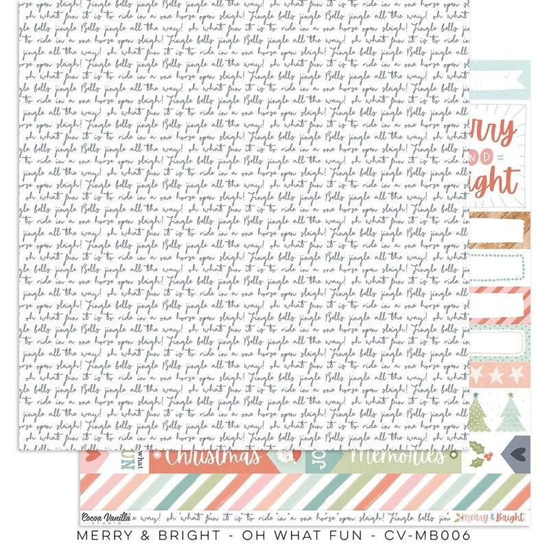 Cocoa Vanilla Studio Merry & Bright 20 pc Happy Scrappy Bag