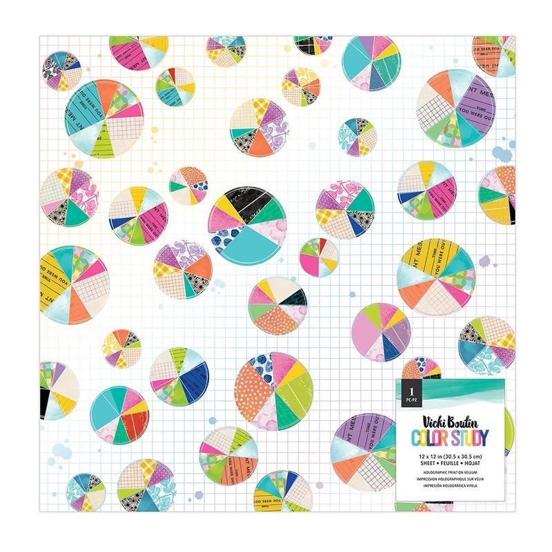 Vicki Boutin Color Study 12 x 12 Specialty Paper - Vellum and Gold Holographic Foil