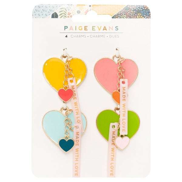 Paige Evans  Bungalow Lane  Resin Heart Charms