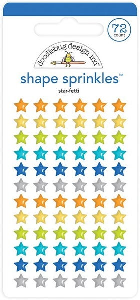 Doodlebug Design Party Time Shape Sprinkles - Star-Fetti