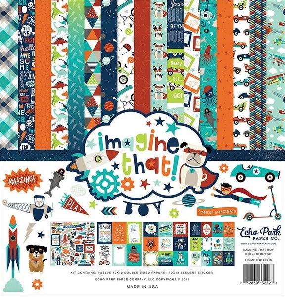 Echo Park Imagine That! Boy Collection Kit