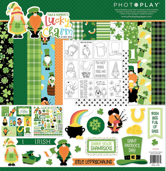 PhotoPlay Tulla and Norbert's Lucky Charm 3 pc Happy Scrappy Bag