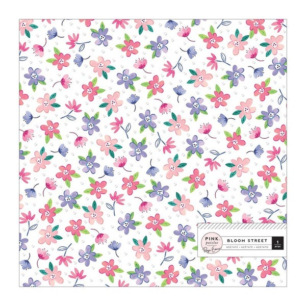 Paige Evans - Bloom Street 12 x 12 Specialty Paper  Acetate with Iridescent Foil Accents